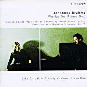 Johannes Brahms<br />Works for Piano Duo