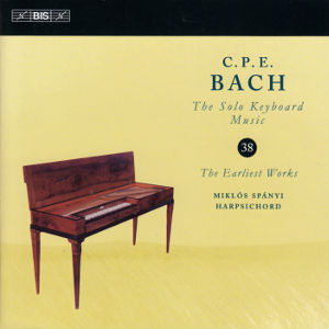 C.P.E. Bach, The Solo Keyboard Music 38 / BIS