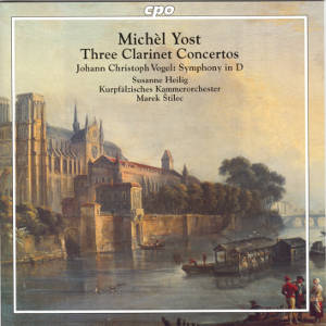 Michèl Yost, Three Clarinet Concertos / cpo