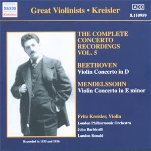 Great Violinists - Kreisler<br />The Complete Concerto Recordings Vol. 5