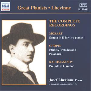 Great Pianists – Lhevinne<br />The Complete Recordings