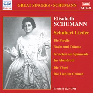 Great Singers • Schumann<br />Schubert Lieder