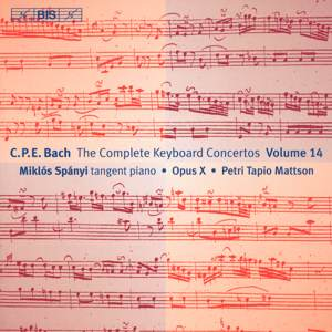 C.Ph.E. Bach, Keyboard Concertos Vol. 14 / BIS