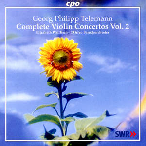 Georg Philipp Telemann Concertos for Violin, Strings & B.c. Vol. 2 / cpo