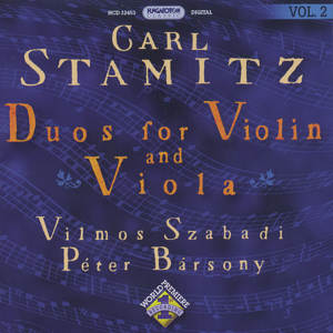 Carl Stamitz Duos for Violin & Viola Vol. 2 / Hungaroton