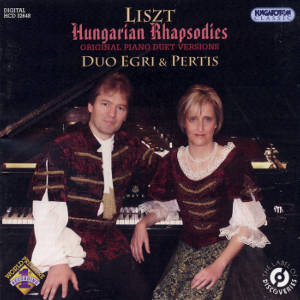 Ferenz Liszt, Hungarian Rhapsodies - original duet versions / Hungaroton